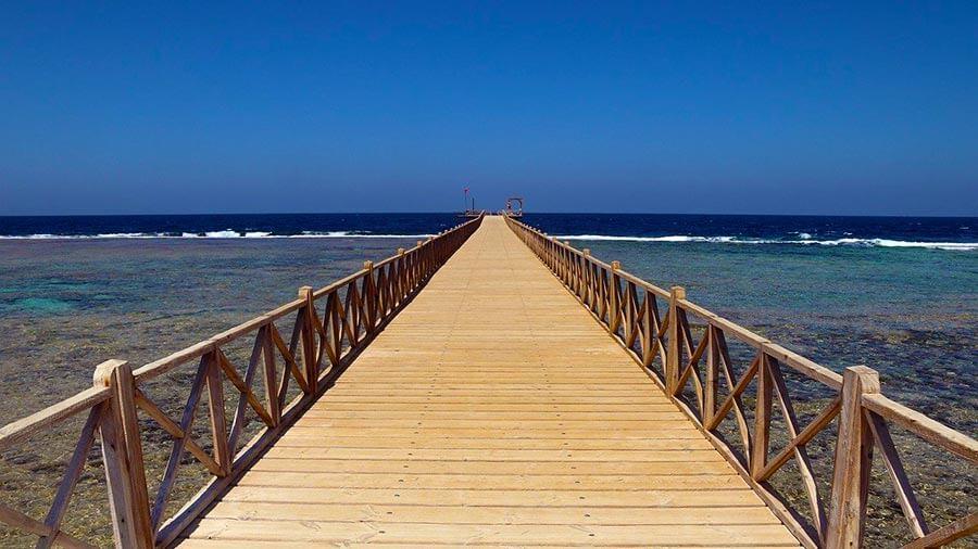 Molo u moře v Egyptě